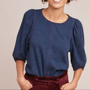New Anthropologie Karnes Structured Top Navy XS
